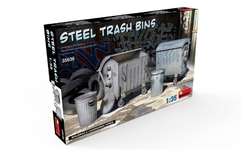 35636 STEEL TRASH BINS