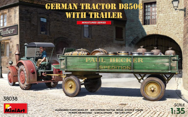 GERMAN TRACTOR D8506 WITH TRAILER