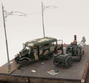 36040 STREET SECTION w/TRAM LINES 35149 GAZ-03-30 Mod. 1938 38036 PIGEONS 35582 LUGGAGE SET 1930-40 Ali Safarov