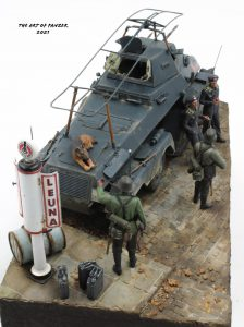 35598 GERMAN GAS STATION 1930-40s The Art Of Panzer