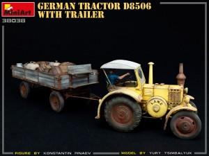 38038 GERMAN TRACTOR D8506 WITH TRAILER Yury Tsimbalyuk Konstantin Pinaev