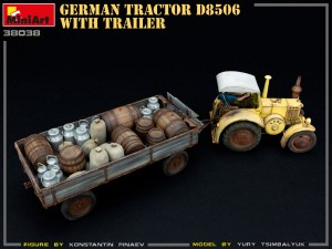 Photos 38038 GERMAN TRACTOR D8506 WITH TRAILER