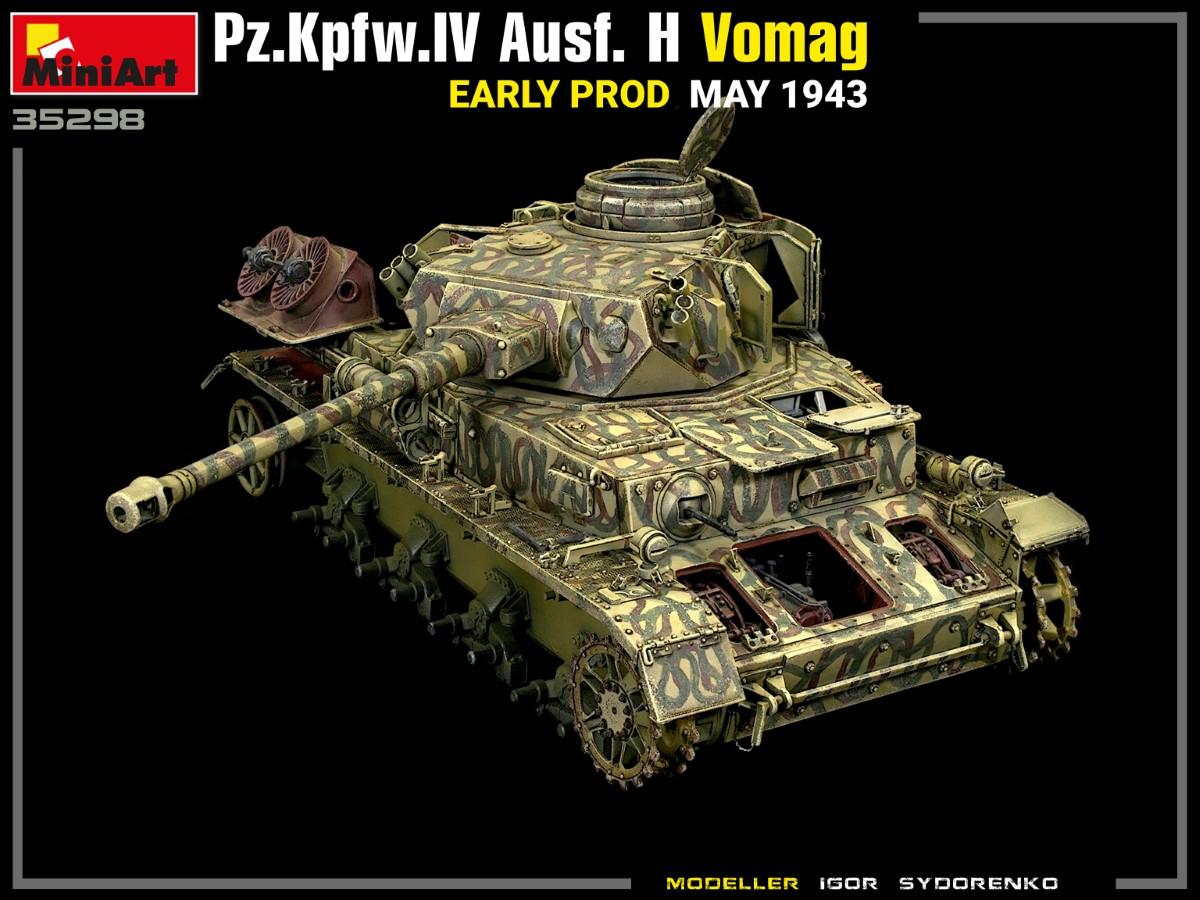New Photos of Kit: 35298 Pz.Kpfw.IV Ausf. H Vomag. EARLY PROD. MAY 1943. INTERIOR KIT
