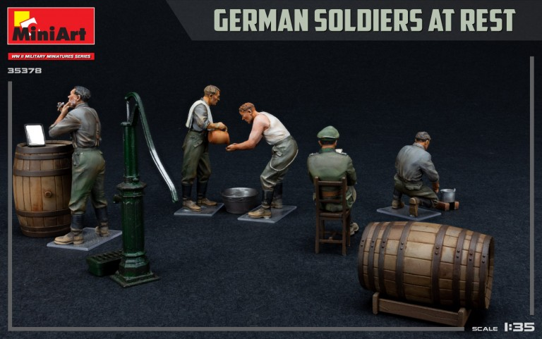 35378 GERMAN SOLDIERS AT REST. SPECIAL EDITION