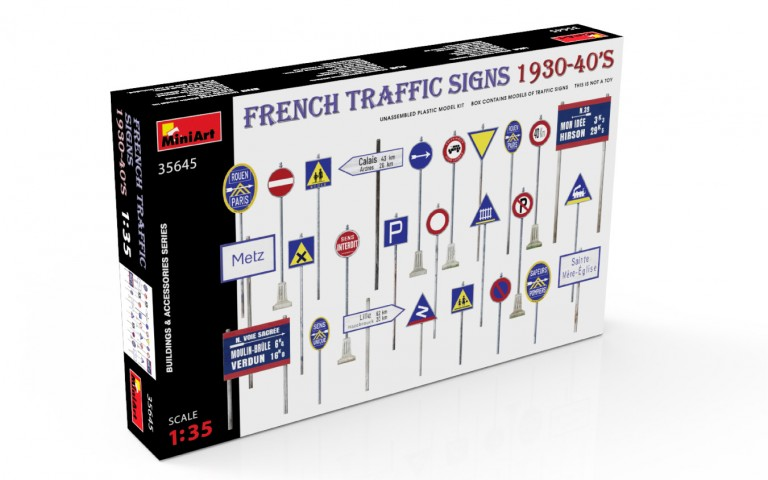 35645 FRENCH TRAFFIC SIGNS 1930-40's