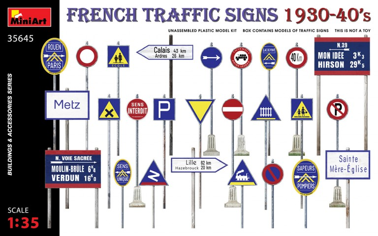 FRENCH TRAFFIC SIGNS 1930-40's