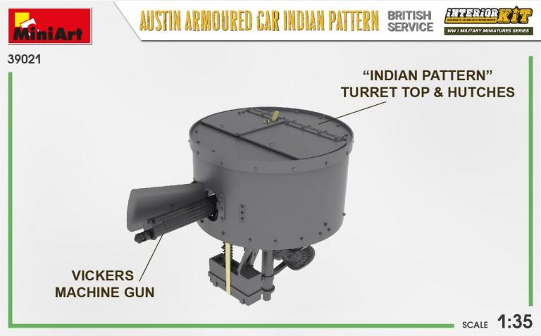 39021 AUSTIN ARMOURED CAR INDIAN PATTERN. BRITISH SERVICE. INTERIOR KIT