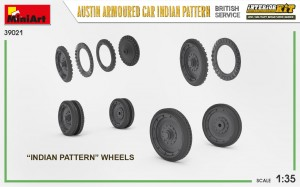 3D renders 39021 AUSTIN ARMOURED CAR INDIAN PATTERN. BRITISH SERVICE. INTERIOR KIT
