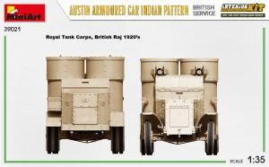 Side views 39021 AUSTIN ARMOURED CAR INDIAN PATTERN. BRITISH SERVICE. INTERIOR KIT