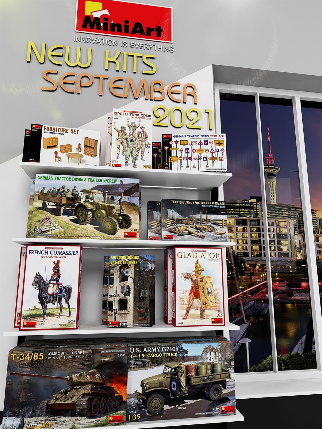 New MiniArt Kits Available September 2021